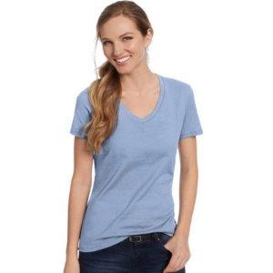 HanesWomen's Nano-T® V-Neck T-Shirt