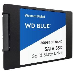 $54.99 (原价$79.99)WD Blue 3D NAND 500GB SATAIII 固态硬盘
