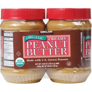 Kirkland Signature Organic Peanut Butter, 28 oz, 2-count