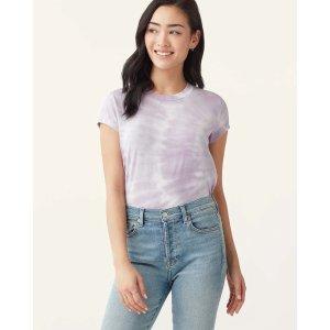 Splendid紫色扎染T恤