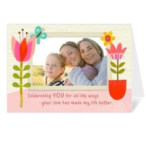买1送1Walgreens 母亲节5x7定制相片贺卡