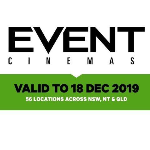现价$18.5 (原价$36)Event Cinemas 普通场次电影票热卖 全澳多地通用