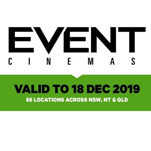 Event Cinemas 普通场次电影票+爆米花Event Cinemas 普通场次电影票+爆米花