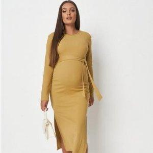 5折+最高额外8折 封面裙$19.2Missguided 时尚孕妇服,US 2-14码日常可穿 秋冬色很巧克力