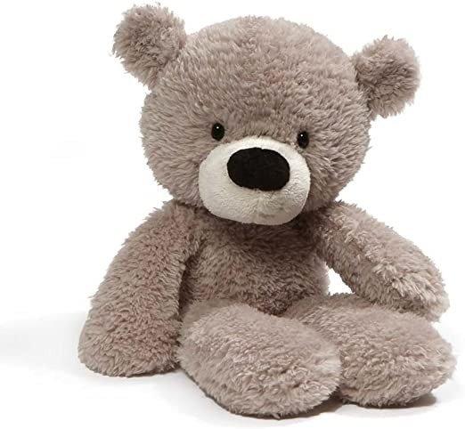 "4059989 Fuzzy Teddy Bear Stuffed Animal Plush, Gray, 13.5"" Stuffed Animal, Gray, 34.29 cm"