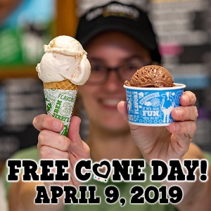 FREE ice cream!Coming Soon: free ice cream in celebration of Cone Day