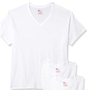 Hanes 男士白色T恤三件套