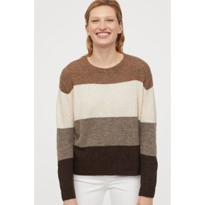 H&M条纹毛衣