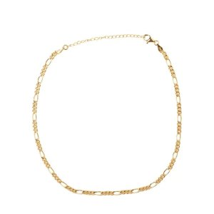 925银 镀金金链