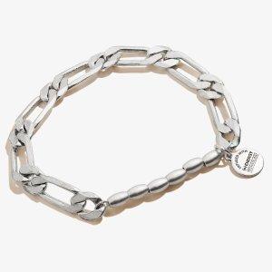 Alex and AniTextured Links Stretch Bracelet