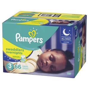 $19.72(原价$29.99)Pampers Swaddlers 新版夜用型婴儿纸尿裤 size 3-6 66片