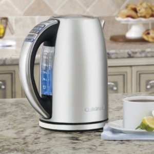 $48Cuisinart CPK-17 PerfecTemp 1.7-Liter Stainless Steel Cordless Electric Kettle