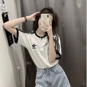adidas Originals三叶草条纹T恤