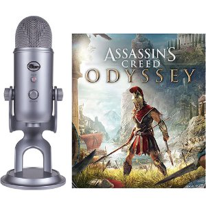 Blue Yeti USB Bundle (Cool Gray) with Assassin's Creed Odyssey Included