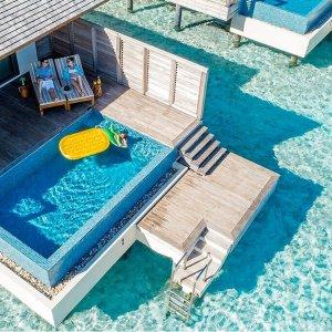 低至3.1折,3晚价格享7晚住宿马尔代夫明星度假村 双人海滩泳池别墅7晚+早晚餐食+私人岛屿