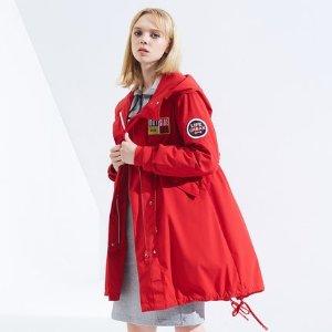 【直营】波司登2018新款羽绒服女中长款冬季外套B80132118