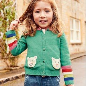 秋季新款7.5折无税即将截止:Mini Boden 童装Labor Day促销,高颜值高品质英伦范