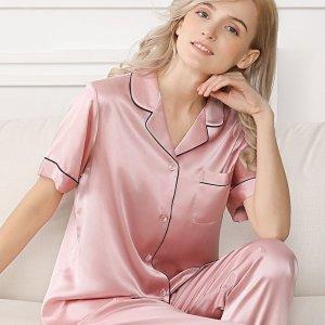 $29.9起+2件额外9折Alisally 缎面睡衣套装 做个精致睡美人