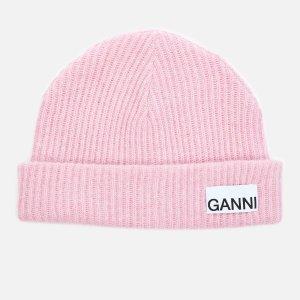 Ganni满€234减€58.5粉色毛线帽