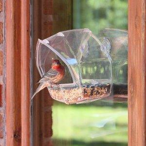 $7.79(原价$18.99)Perky-Pet 贴窗鸟类喂食器 近距离观察鸟类 亲近大自然