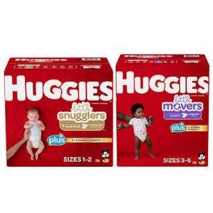 HuggiesPlus Diapers Sizes 1 - 6