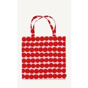 Rasymatto cotton tote - pink, red - Bags - New - Marimekko.com