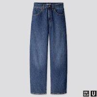 Uniqlo U系列 蓝色宽腿牛仔裤