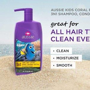 $4.24(原价$7.99) 778毫升Aussie 袋鼠牌 儿童洗发护发沐浴3合1 方便快捷 从头到脚洗干净