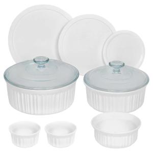$39.97 (原价$58.44)CorningWare 康宁纯白法式烘焙餐具 10件套