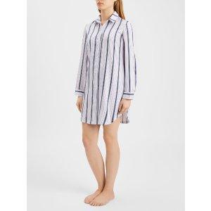 Derek Rose棉质条纹睡裙