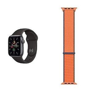 碳黑色 2根表带 40mmApple Watch SE (GPS, 40 mm) 智能手表