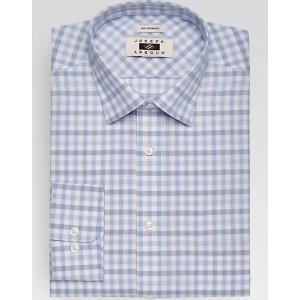 3 for $99.99Joseph Abboud Blue & Beige Check Dress Shirt - Men's Classic Fit | Men's Wearhouse
