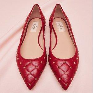 低至3折 $210起Valentino 美鞋专场 收铆钉鞋、拖鞋