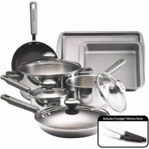 Farberware Stainless Steel Dishwasher Safe Cookware Set, 13 Piece