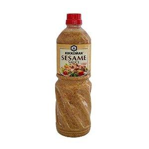 1L €19.99 减肥食草调味Kikkoman 焙煎芝麻沙拉汁 日式神级沙拉酱 配蔬菜好吃低卡