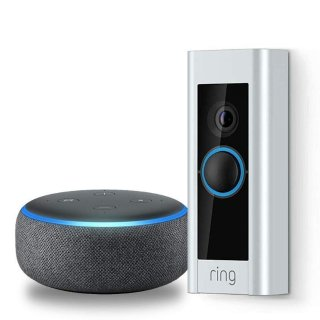 $169Ring Video Doorbell Pro 智能门铃 + 3代 Echo Dot 套装