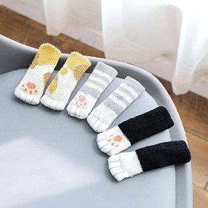低至6折 椅子袜子$0.4/只毛线编织家居腿保护套 可爱猫爪套 弹性防磨保护地板