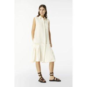 Victoria BeckhamFlounce Hem Shirt Dress in Ecru