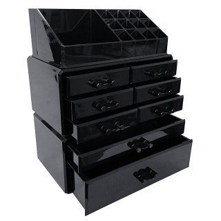 $24.48Sodynee Makeup Cosmetic Organizer Storage Drawers Display Boxes Case, Three Pieces Set