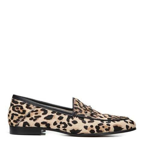 豹纹乐福鞋