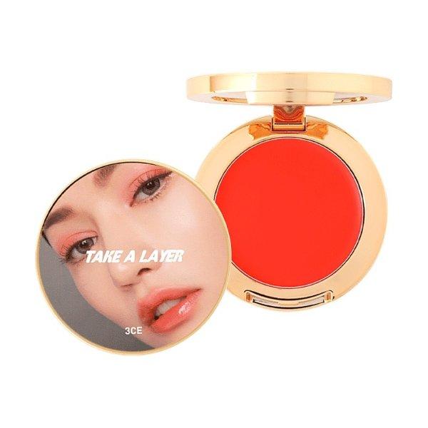 韩国3CE TAKE A LAYER 多功能唇颊两用腮红膏 #MORNING SKINNY 橙橘色 4.2g - 亚米网