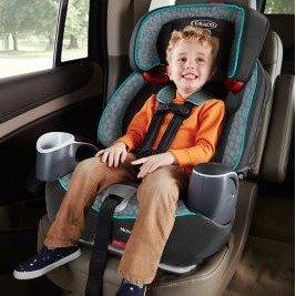 $97.49(原价$149.99) 好价回归Graco Nautilus 65 三合一儿童汽车增高安全座椅,Polar色