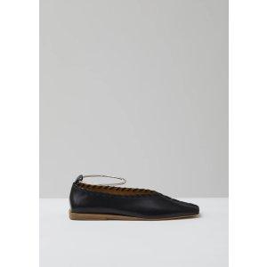 Jil Sander圆环平底鞋