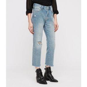 ALLSANTS铆钉直筒牛仔裤