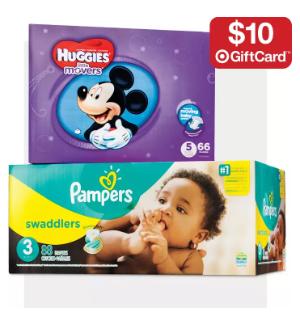满额送礼卡Target 婴儿尿布、奶粉促销 Pampers和Similac畅销款全有