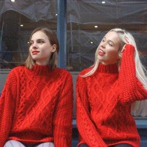 68折 收封面款敲美丽红毛衣MissLondoner 英国设计师品牌新年美衣独家热卖