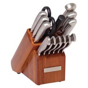 Sabatier 15-Piece Stainless Steel Knife Block Set