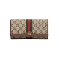 Gucci Ophidia textured 老花长钱包