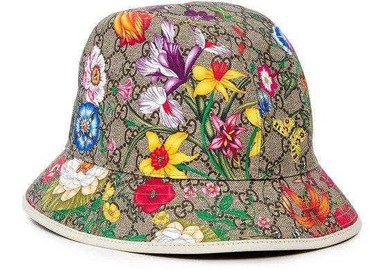 GG Fedora 花朵渔夫帽