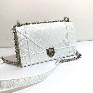 Dior Diorama Size Small White Leather Cross Body Bag - Tradesy
